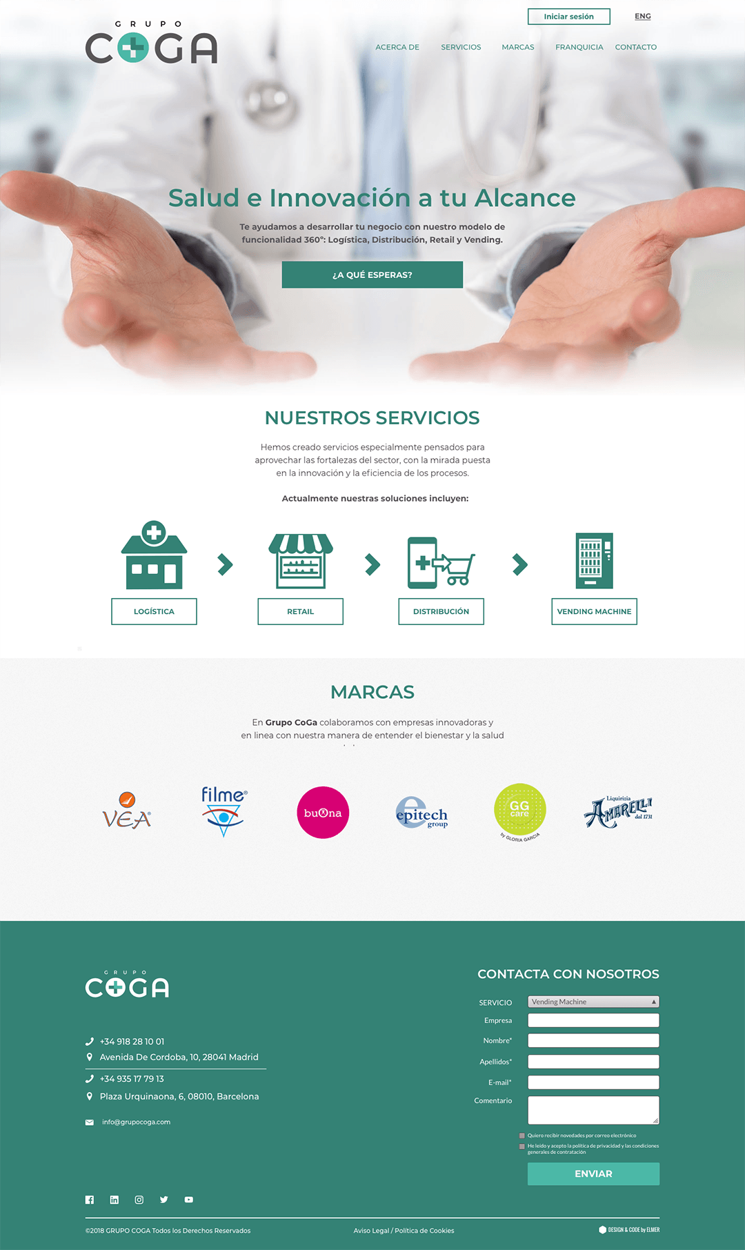 Grupo COGA website